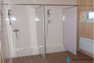 Фото перегородок в душ из поликарбоната